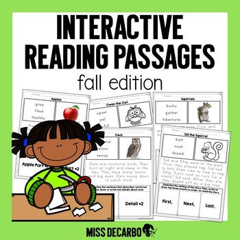 Interactive Reading Passages: FALL Edition