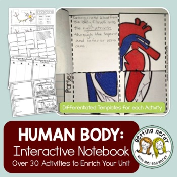 Human Body Interactive Notebook Activity Pack for Life Science & Biology