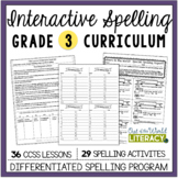 Interactive Spelling Grade 3: A Year Long Common Core Unit
