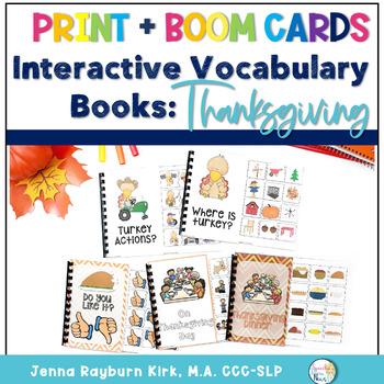 Interactive Vocabulary Books: Thanksgiving