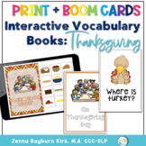 Interactive Vocabulary Books: Thanksgiving