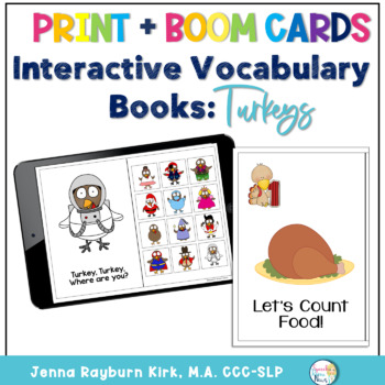 Interactive Vocabulary Books: Turkeys