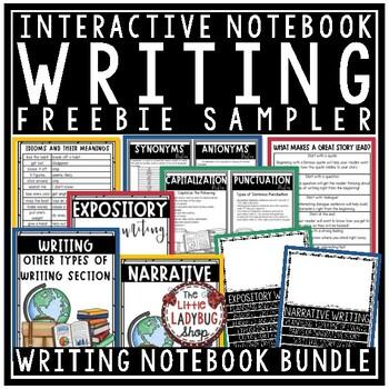 Writing Interactive Notebook {FREEBIE}