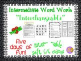 "Word Work and Vocabulary 5-Day Intermediate Unit ""INTERCHA"