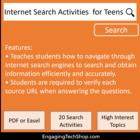 Internet Search Activities Reproducible Workbook - school-