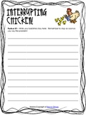 Interrupting Chicken Writing Activity