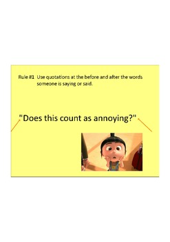 INTRO TO WRITING DIALOGUE USING DESPICABLE ME QUOTES ...