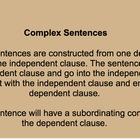 Introduction to Complex Sentences