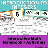 Introduction to Integers Interactive Notebook Pages & Acti