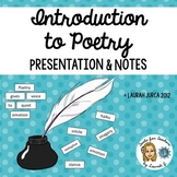 Introduction to Poetry Powerpoint Presentation and Cloze Notes