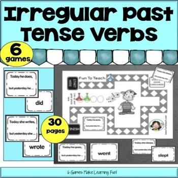 Irregular Past Tense Verb Game - Cut and Play!