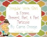 Irregular Verb Sort & Worksheets