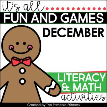 It's All Fun & Games {December Math & Literacy Activities for Kindergarten}