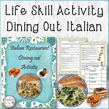 Italian Restaurant Dining Out Activity