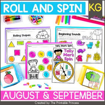 It's All Fun & Games Back to School Math & Literacy Activities for Kindergarten