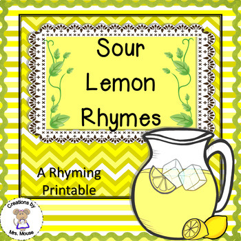 Sour Lemon Rhymes