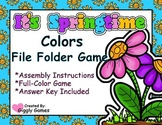 It's Springtime Colors File Folder Game