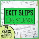 I've Got It! Life Science Exit Slips
