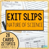 I've Got It!  Nature of Science Exit Slips