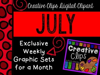 JULY 2015 Graphics Club {Creative Clips Digital Clipart}