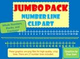 JUMBO PACK Number Line Clip Art  Fractions Common Core Mat