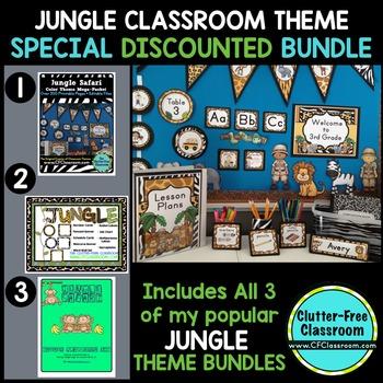 JUNGLE ~ SAFARI Classroom Theme Packet ~ Printable Decor and More