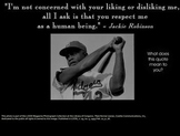 Jackie Robinson and letter writing 5th and 6th grade