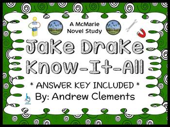 Jake Drake, Know-It-All (Andrew Clements) Novel Study / Reading Comprehension