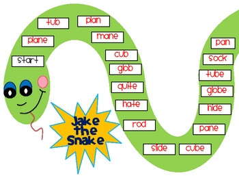 Jake the Snake- Silent E Board Game