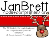 Jan Brett QR Code+Comprehension Listening Centers  Bundle