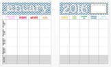 January 2016 Editable Curriculum Planning Calendar