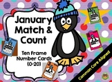 January Count and Match Ten Frame Number Cards (0-20)
