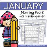 January Morning Work for Kindergarten {Common Core Aligned}