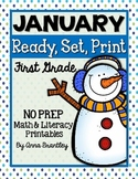 Ready, Set, Print: January Math and Literacy Printables