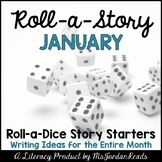 {January} Roll-a-Story Writing Activity