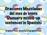 January Scrambled Sentences in Spanish