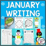 January Winter Fiction and Nonfiction Writing with cute te
