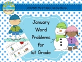 January Word Problems for 1st Grade (TASK CARDS)