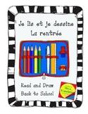 Je lis et je dessine - La rentrée  Back to school read and draw