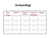 Jeopardy Archaeology Game