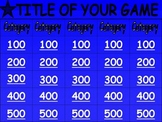 Jeopardy Game (Easy to modify for your class!) - 66 slide