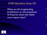 Jeopardy Law Game HELLER v. DISTRICT 2nd Amendment Guns Bear Arms