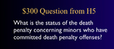 Jeopardy Law Game, Juvenile Crime & Justice, Trials