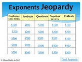 Jeopardy Review Game Exponents - 5 Categories