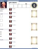 John Adams Presidential Fakebook Template