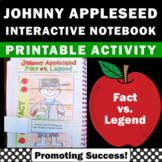 Johnny Appleseed Day Folktales Interactive Reading Noteboo