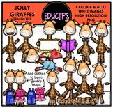 Jolly Giraffes Clip Art Bundle