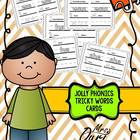 Jolly Phonics Tricky Words cards (literacy center)