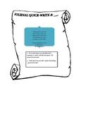 Journal Quick Writes