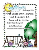 Journeys 2014 First Grade Unit 1 Bundle